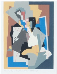 composition à deux figures planes by albert gleizes