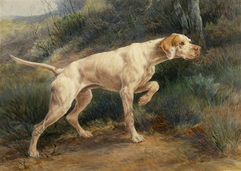 pointer in a landscape by edmund henry osthaus