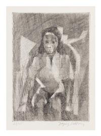 la petite mendiante by jacques villon