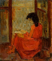 girl reading by clio natsi