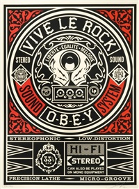 vive le rock by shepard fairey