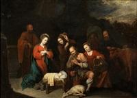 adoración de los pastores by david ryckaert iii
