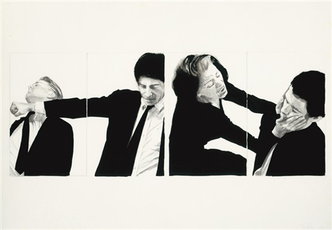 two struggles four figures by robert longo