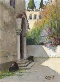 ingresso di antica chiesa by giovanni secchi