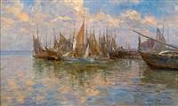 bateaux au port by léon barillot