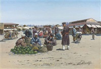 a bazaar in dagestan by richard karlovich zommer