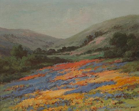 wildflowers on a hillside by william franklin jackson