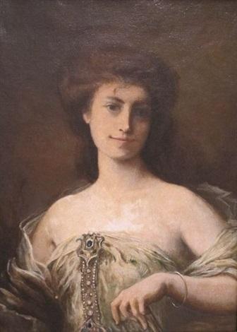 portrait délégante by henri léopold lévy