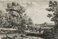 le pont de bois (rebecca et éliézer) by claude lorrain