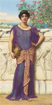 the tambourine girl by john william godward