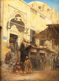 entrée de la mosquée, le caire by cesare biseo