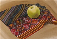 apple and ikat weaving by patricia jorgensen