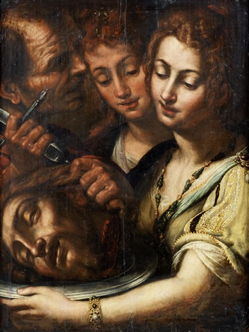 salome with the head of saint john the baptist by giulio cesare procaccini