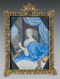 portrait de louise de la vallière devant son miroir by french school (17)