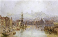 view of whitby by george weatherill
