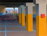 study for supermarket car park ii by jeffrey smart