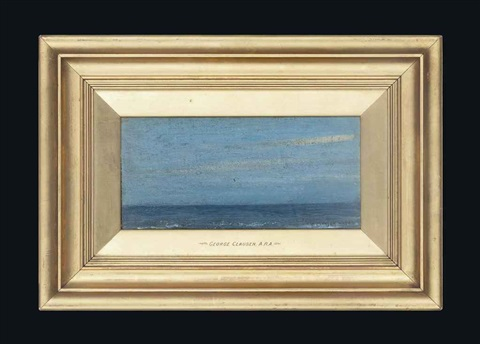 sea deep blue by sir george clausen