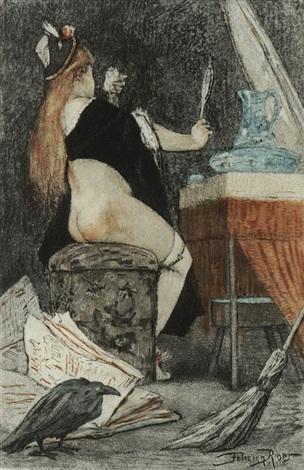 la petite sorcière by félicien joseph victor rops