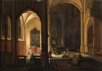intérieur d'église by peeter neeffs the elder