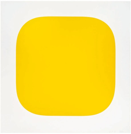 yellow from second curve series by ellsworth kelly