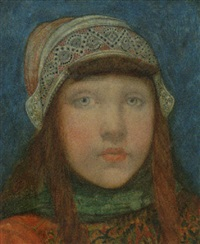 portrait of a young girl by nico jungmann