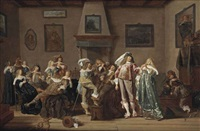 a merry company making music and drinking in an interior by dirck hals