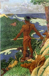 la jolie baie de tiva (ile de tahaa, archipel de la société) by octave morillot