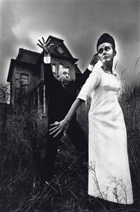 alfred hitchcock and ina, hollywood by jeanloup sieff