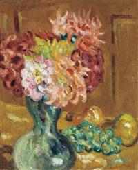 vase de chrysanthèmes by louis valtat