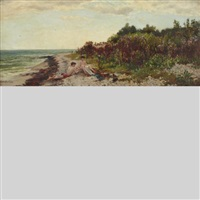 young bathers on the coast by william henry bartlett