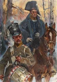 fragment olszynki grochowskiej by woiciech (aldabert) ritter von kossak