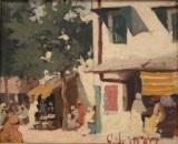 scène de marché en tunisie by georges le mare