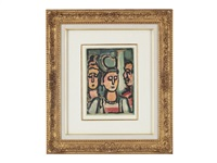 a trio (trio, planche pourles fleurs du mal de charles baudelaire) by georges rouault