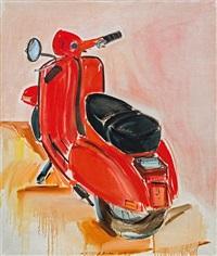rote vespa by brigitte bruckner-mikl
