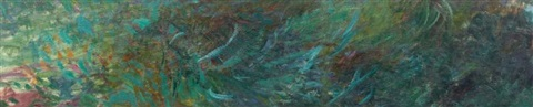 nymphéas fragment by claude monet
