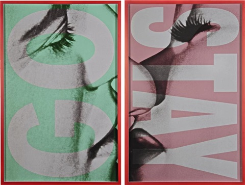 untitled gostay in 2 parts by barbara kruger