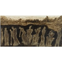 untitled (figures in sepia) by rabindranath tagore