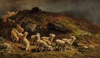 troupeau de moutons by charles ferdinand ceramano