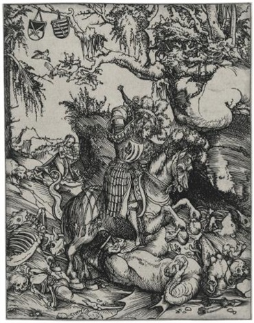 saint george on horseback slaying the dragon by lucas cranach the elder
