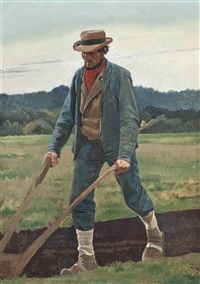 the ploughman by frants peter didrik henningsen
