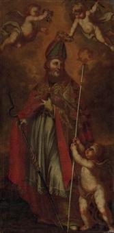 der hl. märtyrer und bischof erasmus von formio bzw. thiemo von salzburg, osb, erzbischof und märtyrer, gestorben 1102 bei askalon by austrian school (17)