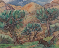 landscape with pigs by george biddle
