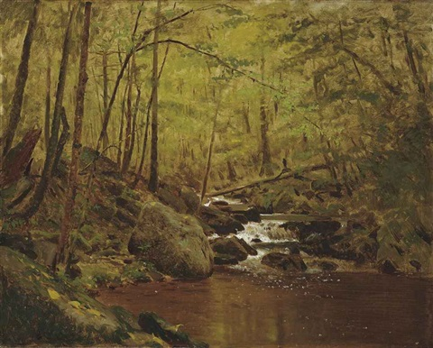 the running brook by john george brown