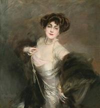 portrait of diaz albertini by giovanni boldini