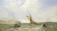 Shipping off a coast, 1865