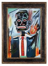 sans titre (self portrait with tie) by jean-michel basquiat