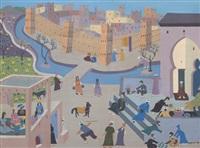 fresque de la vie marocaine by mohamed naciri