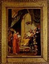 cristo davanti al gran sacerdote by giustino menescardi