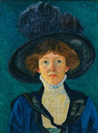 frau mit hut (lady with hat) by sigismund righini