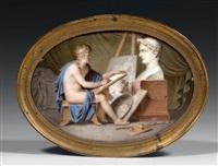allégorie de napoléon et des beaux-arts by alexandre paul joseph veron